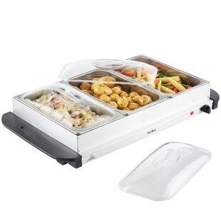 3 Tray Food Warmer Buffet Server by VonShef