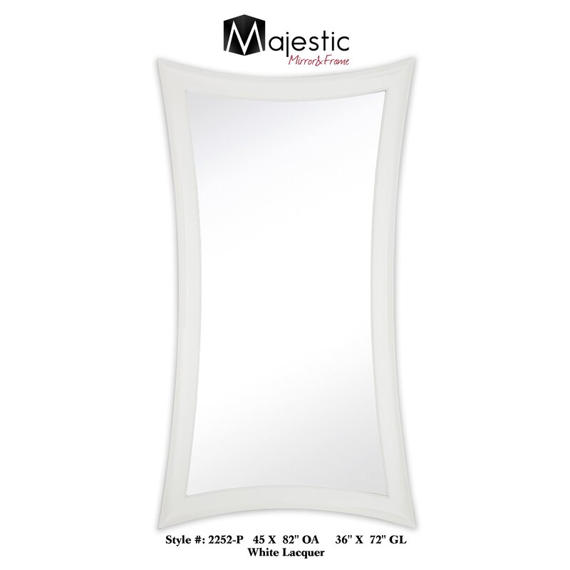 Majestic Mirror Large Contemporary Warped Modern White Lacquer Wall ...