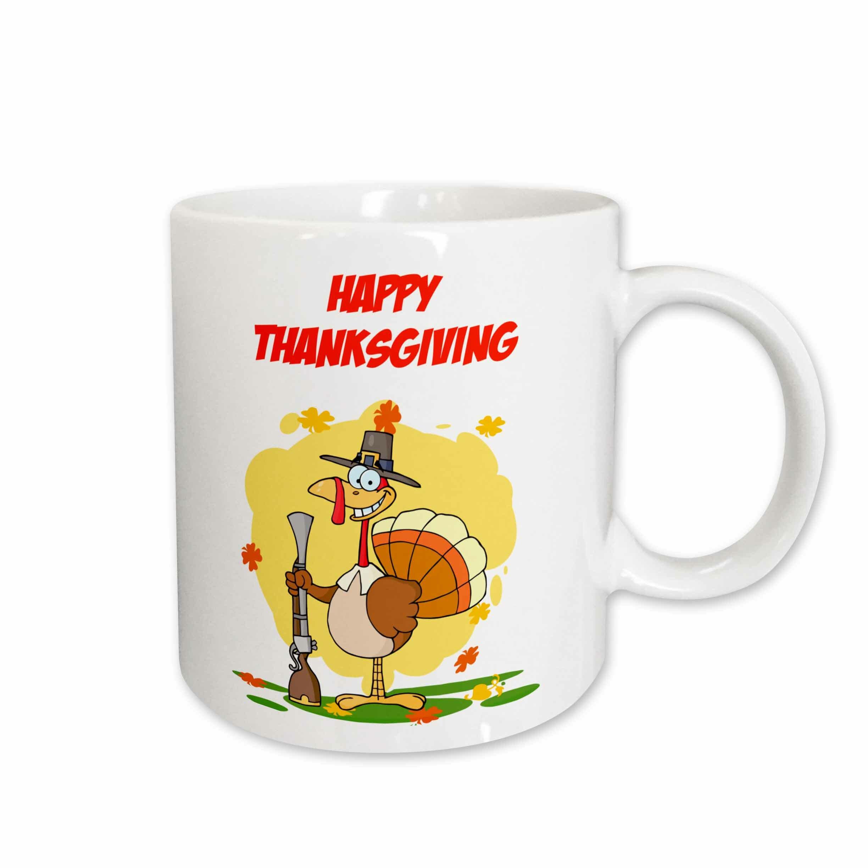 East Urban Home Happy Thanksgiving Turkey Coffee Mug Wayfair