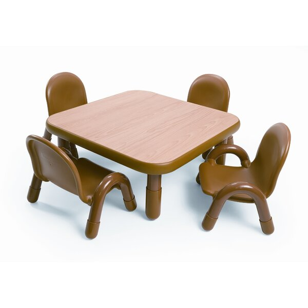 Angeles Square Baseline Toddler Table And Chair Set In