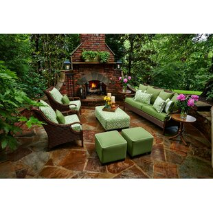 Peak Season Inc. Panama 6 Piece Sunbrella Sofa Set with Cushions