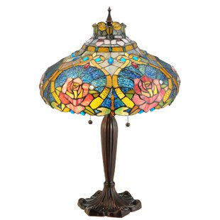 Dragonfly Rose 26 Table Lamp