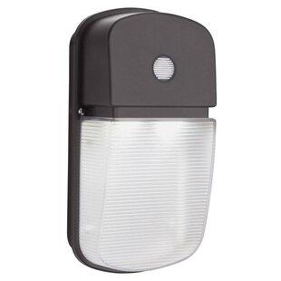 Wireless Outdoor Lighting Wireless outdoor lighting wayfair dusk to dawn integrated led 1 light outdoor flush mount workwithnaturefo