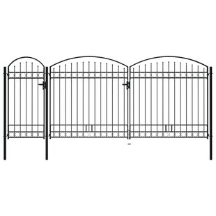 Balictar 17' X 8' (5m X 2.50m) Metal Gate By Sol 72 Outdoor