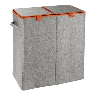 Filz Orange Laundry Sorter By Mercury Row