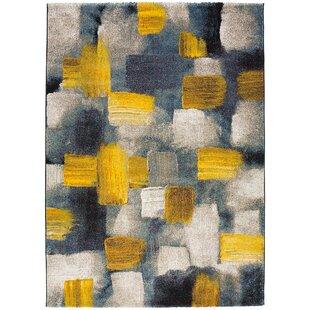 Bagdasarian Design Yellow Blue Beige Rug
