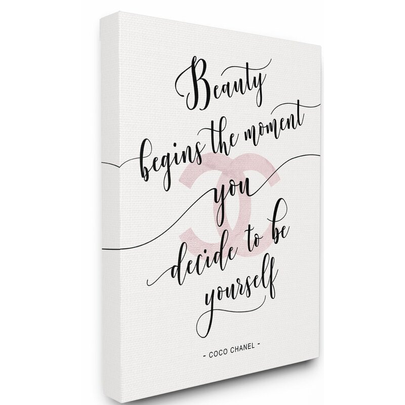 Stupell Industries Beauty Begins Fashion Designer Pink Inspirational Word Design Textual Art Reviews Wayfair