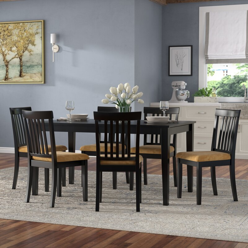adfb93fdf25 Andover Mills Oneill 7 Piece Wood Dining Set   Reviews