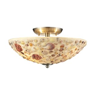 Mariam 3- Semi Flush Mount by Highland Dunes