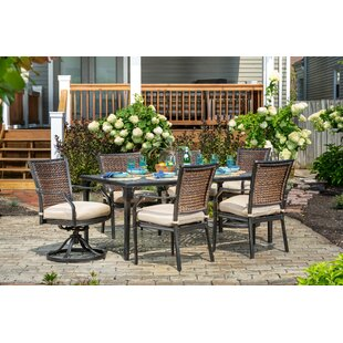 Burciaga 7 Piece Dining Set with Cushions