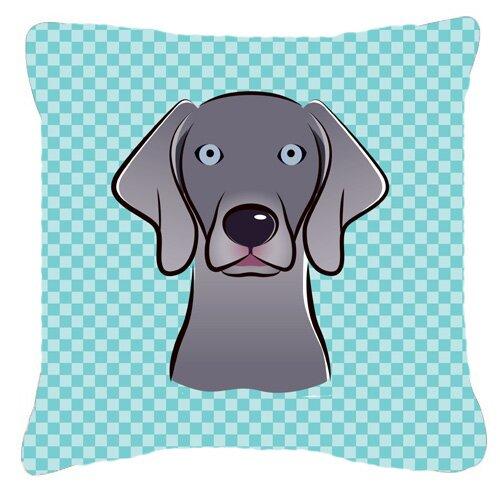 Caroline S Treasures Checkerboard Weimaraner Indoor Outdoor Throw Pillow Wayfair