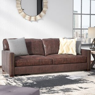Grandfield Nailhead Leather Sofa