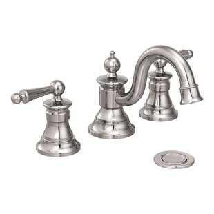 Compare & Buy Waterhill Widespread Bathroom Faucet with Drain Assembly By Moen