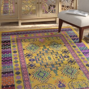 Best Reviews Iris Gold Area Rug By Bungalow Rose