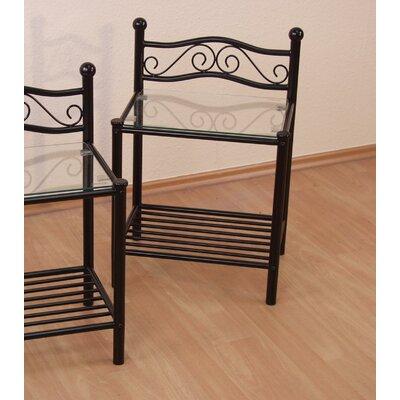 Nachttisch mit 1 Schublade Hilde | Schlafzimmer > Nachttische | Lackiert - Filz - Vi | Marlow Home Co.