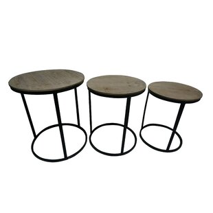 Williston Forge Helena Wood Top 3 Piece Nesting Tables