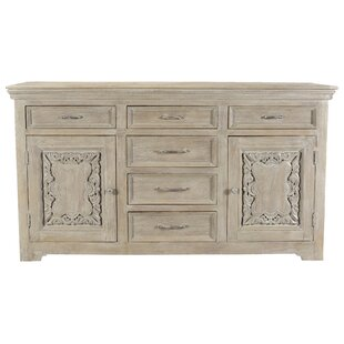One Allium Way Patchway Carved Panel 6 Drawer Combo Dresser