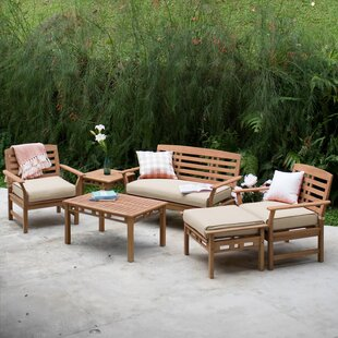 Doring Teak Patio Chair With Cushions Set Of 2