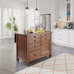 Hurst Quartz Top Kitchen Island by Loon Peak