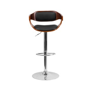 Kobe Adjustable Height Swivel Bar Stool Orren Ellis