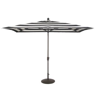 Wieczorek Auto Tilt 10' x 6.5' Rectangular Market Sunbrella Umbrella by Breakwater Bay