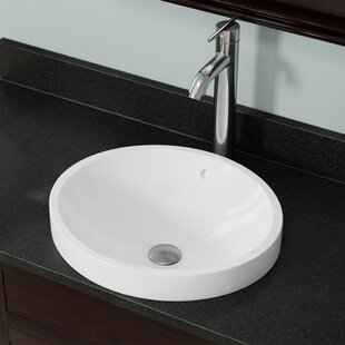 Looking for Vitreous China Circular Vessel Bathroom Sink with Overflow By MR Direct