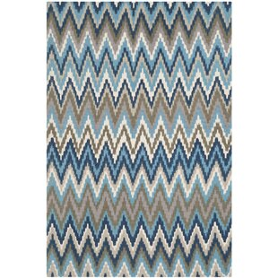 Erin Hand-Woven Cotton Brown/Blue Area Rug by Safavieh