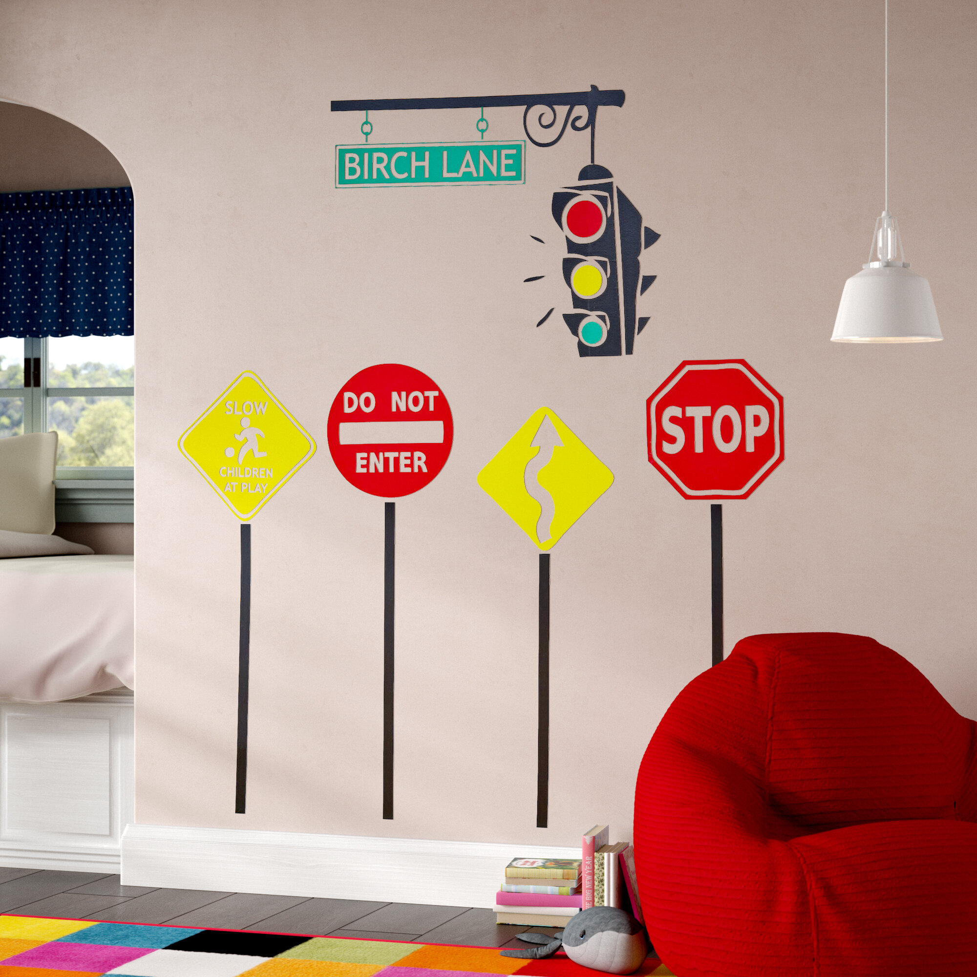 Stop Go Personalized Wall Decal