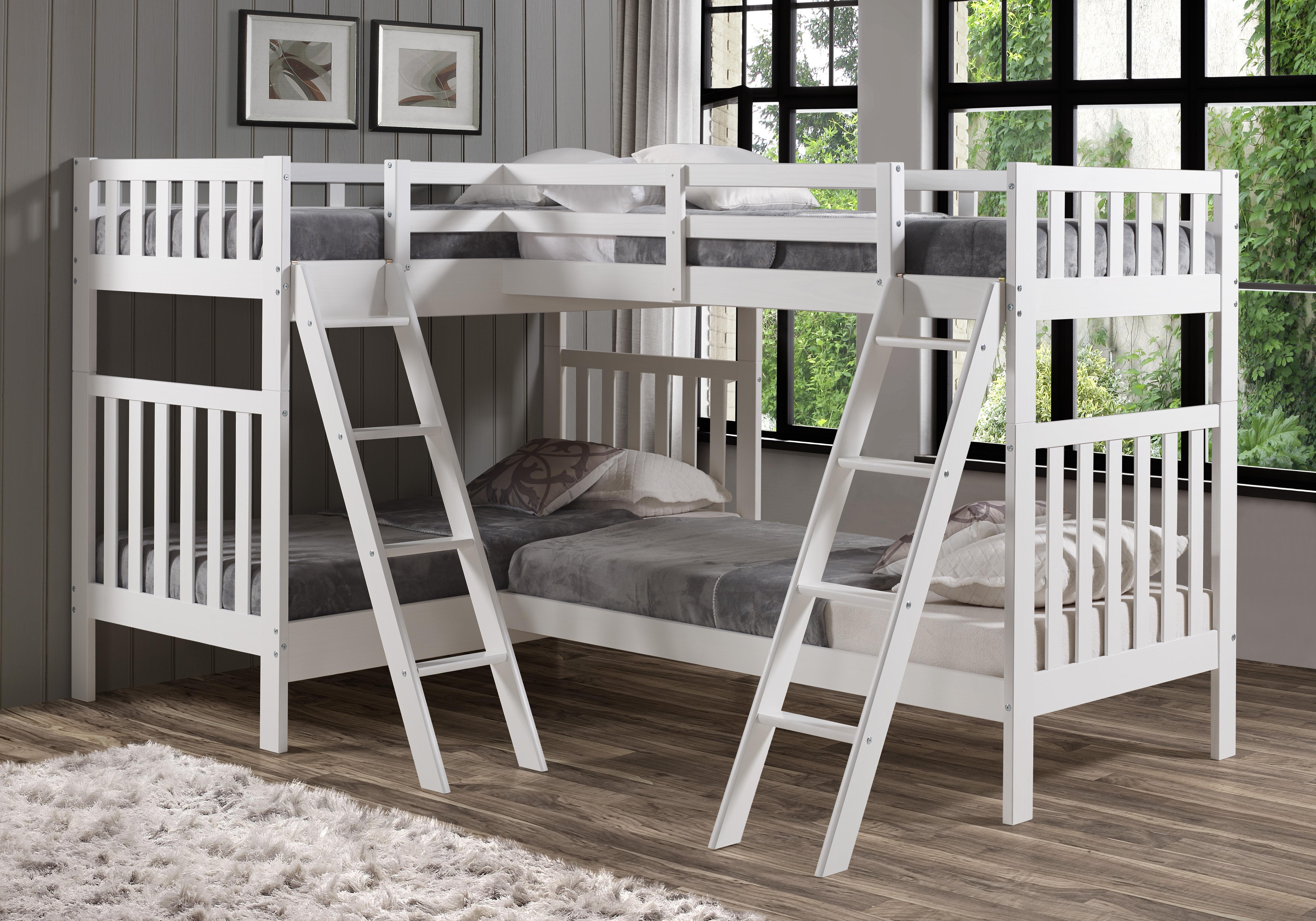 Harriet Bee Reasor Twin L Shaped Bunk Bed Reviews