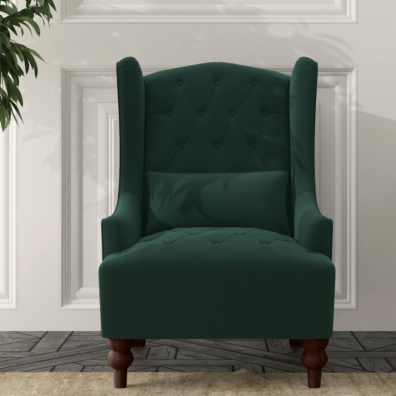 Three Posts Wetumka 17 Wingback Chair Reviews Wayfair