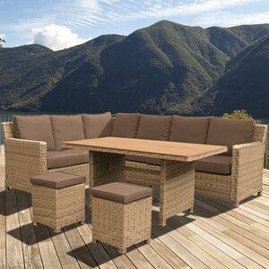 8-Sitzer Sofa-Set Lewis aus Rattan von Home Loft..