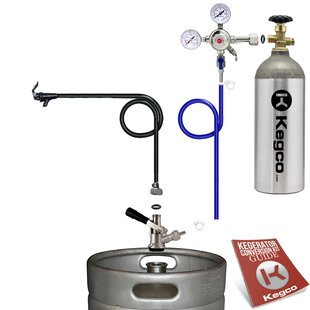 Standard Party Beer Dispenser Keg Tap Kit with Tank