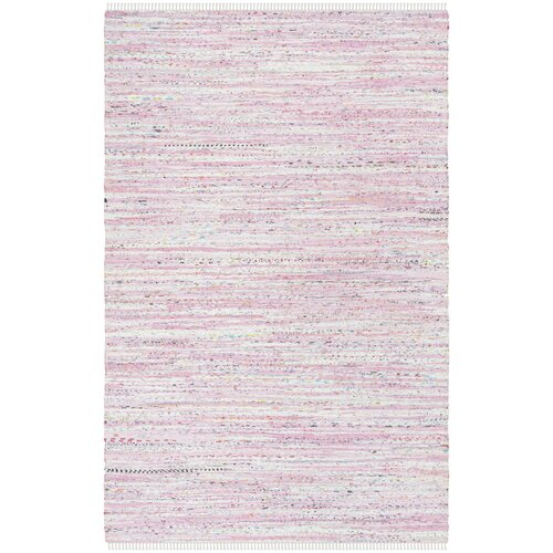 Mistana Lansing Handmade Flatweave Cotton Light Pink Area Rug Reviews Wayfair
