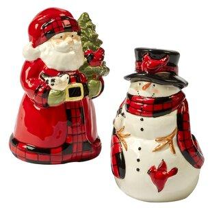 Winter's Plaid 3D Salt & Pepper Shaker Set