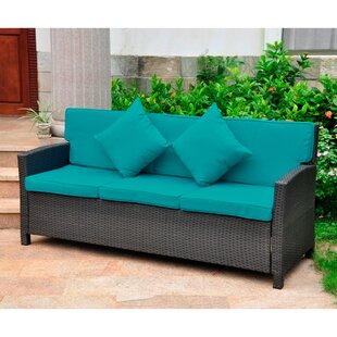Stapleton Wicker Resin Sofa with Cushions