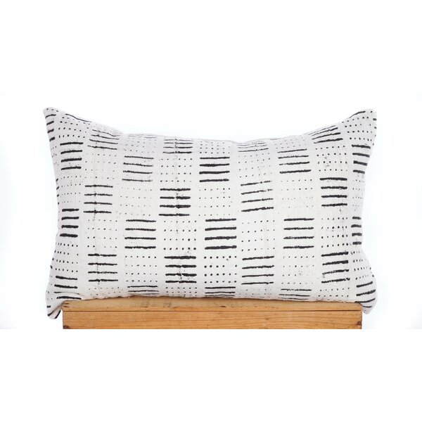 One Fine Nest Dots And Dashes Print African Mud Cloth Pillow Cover & Reviews by One Fine Nest