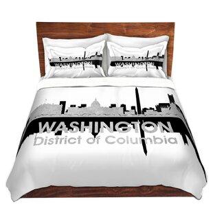 DiaNoche Designs City IV Washington DC Duvet Set