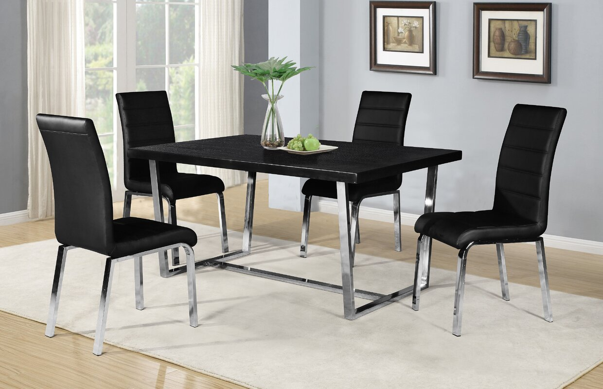 Buariki 5 Piece Dining Set & Reviews | AllModern