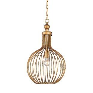 Ansonia 1-Light Globe Pendant by Bay Isle Home
