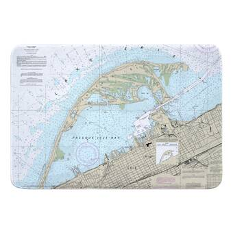 Breakwater Bay Nautical Chart Naples Fl Rectangle Memory Foam Non Slip Bath Rug Wayfair