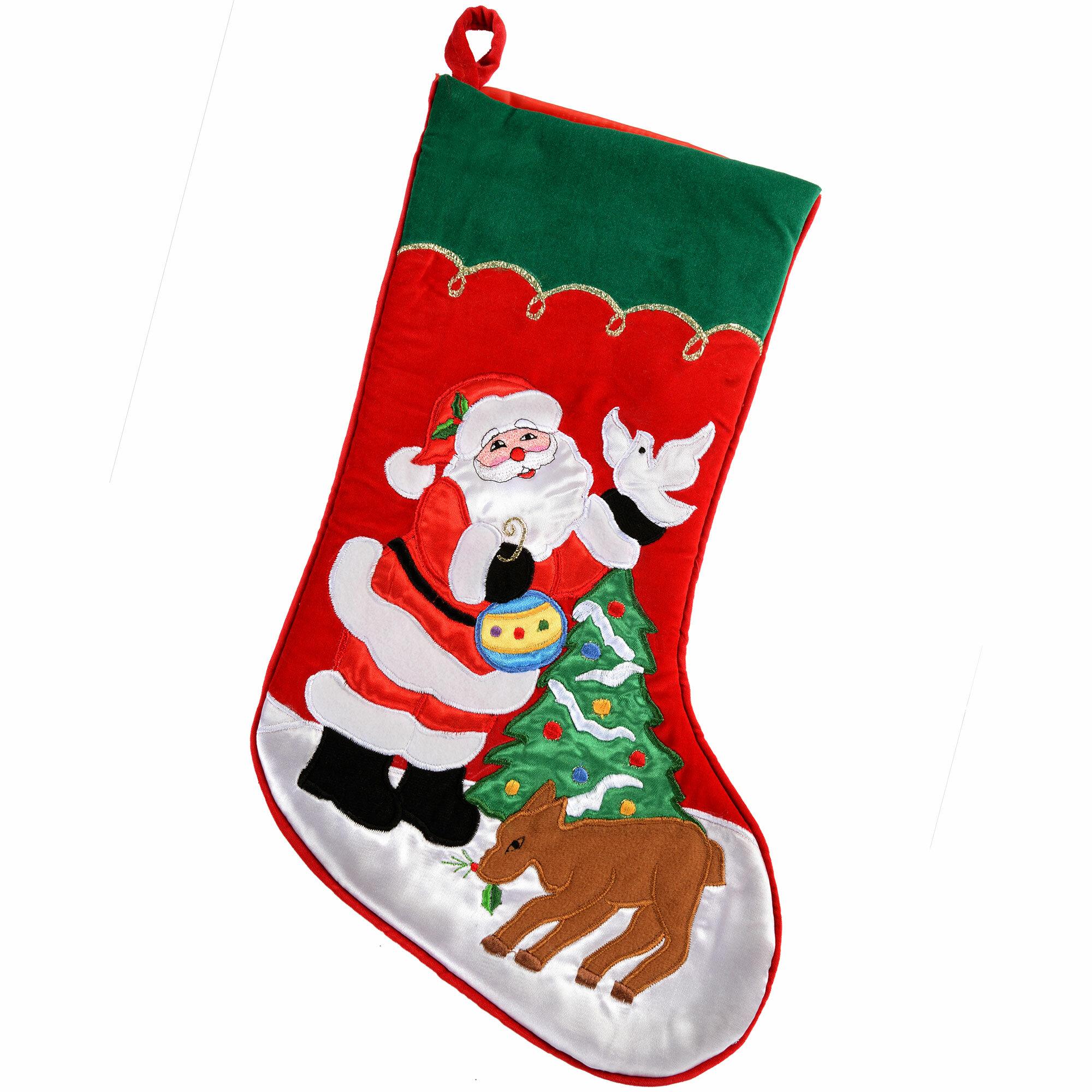 267135dd2f2 The Seasonal Aisle 48cm Santa Scene Christmas Stocking