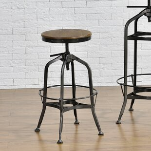 Petrie Adjustable Height Swivel Bar Stool by Williston Forge