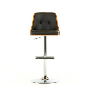 Brayden Studio Lipscomb Adjustable Height Swivel Bar Stool