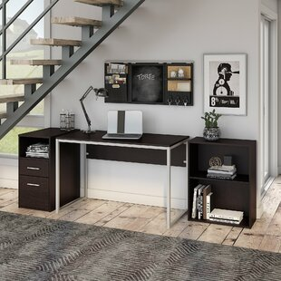 Hesse Small Desk Bookcase And Pedestal Set by Symple Stuff Comparison