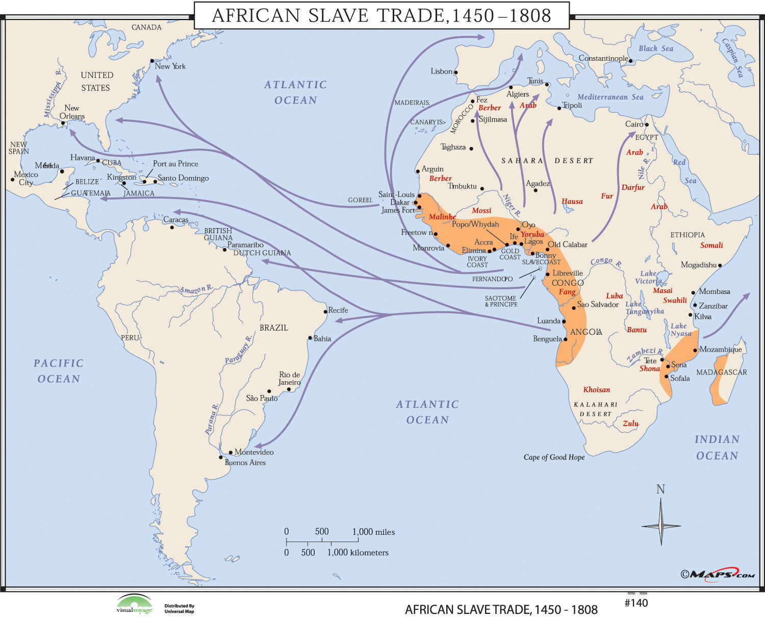 Universal map world history wall maps african slave trade wayfair gumiabroncs Image collections