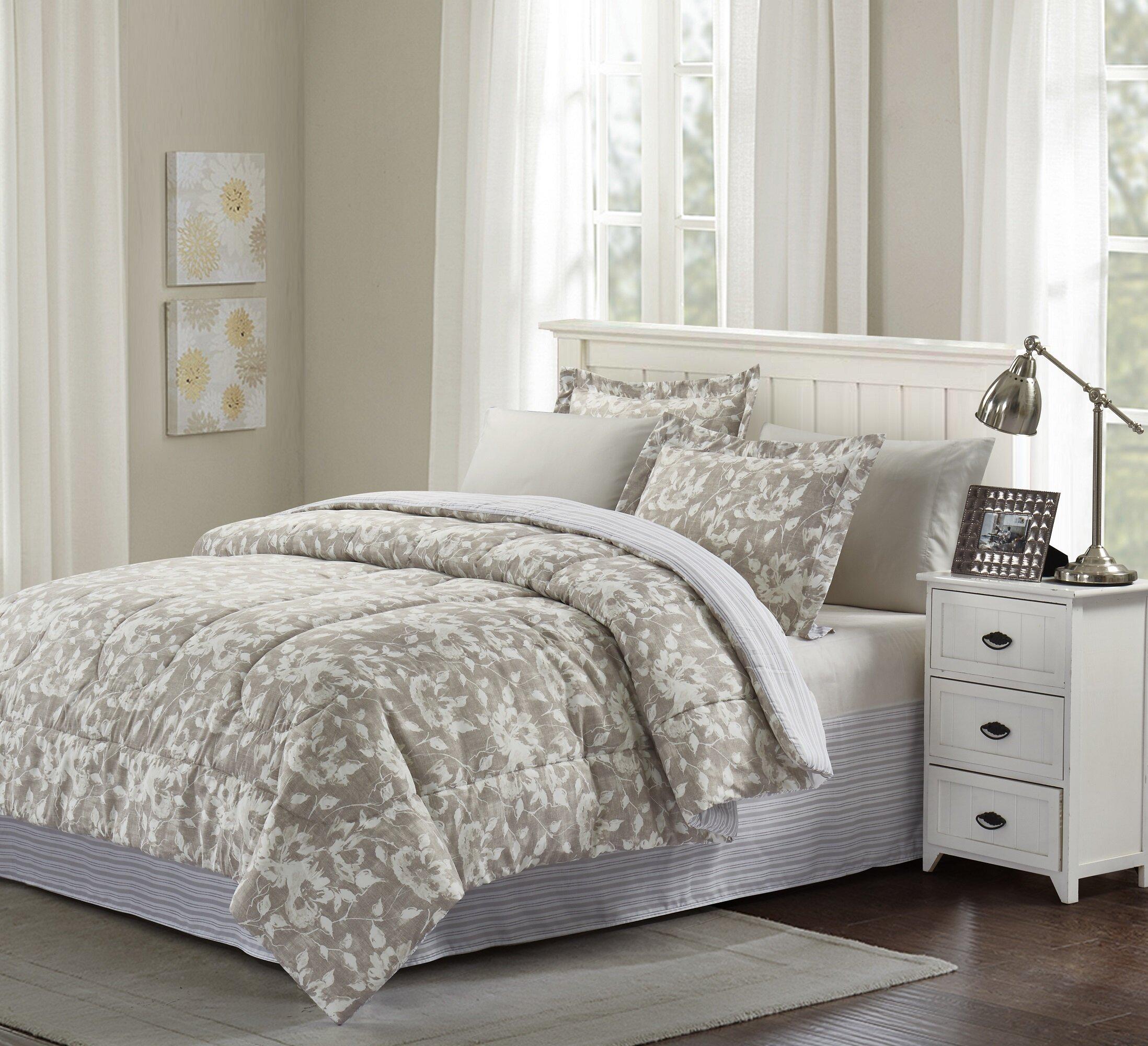 Charlton Home Biwabik Reversible Comforter Set Reviews Wayfair