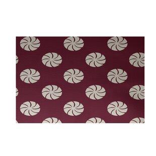 Order Decorative Holiday Geometric Print Cranberry Burgundy Indoor/Outdoor Area Rug By The Holiday Aisle