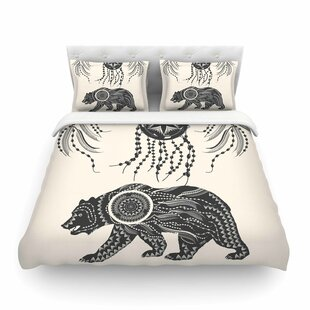 Boho Ornate Bear by Famenxt Featherweight Duvet Cover