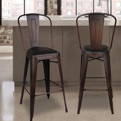 Super Kennett 30 Bar Stool Williston Forge Upholstery Black Color Pdpeps Interior Chair Design Pdpepsorg