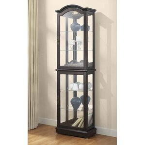 Loyer Lighted Curio Cabinet by Charlton Home